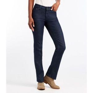 LL BEAN True Shape Classic Fit Dark Wash Jeans 12